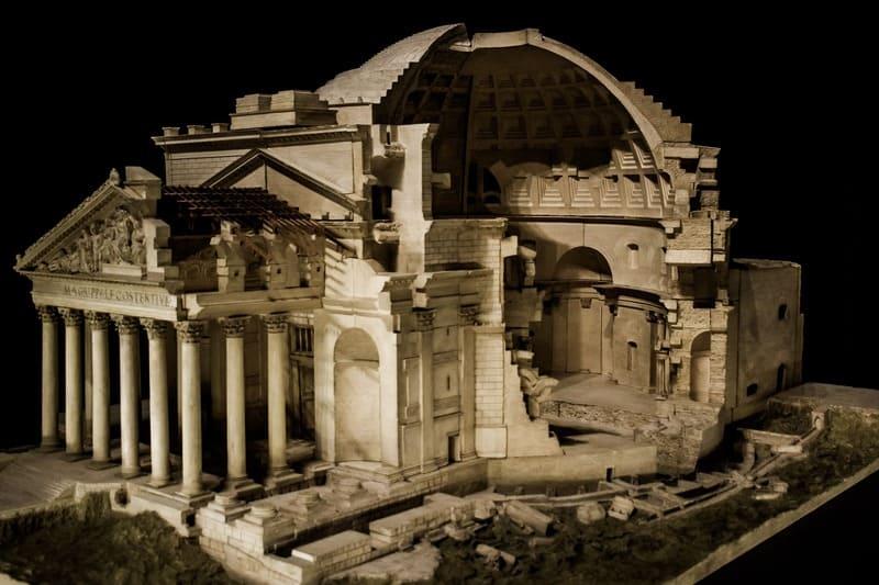 Maquette de l'architecture du Pantheon
